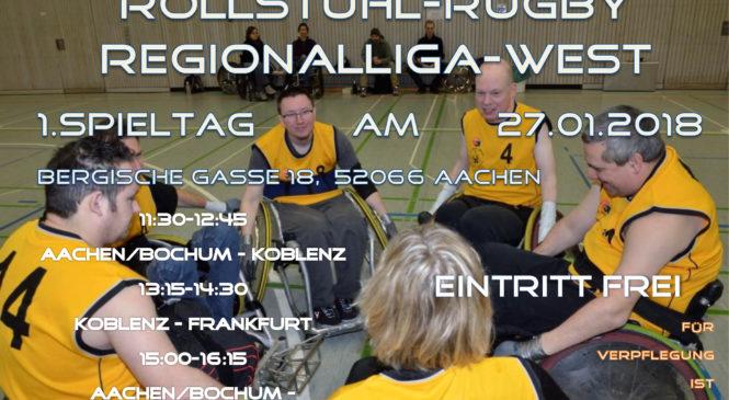 [Rollstuhlsport] 1. Spieltag Rollstuhlrugby Regionalliga West