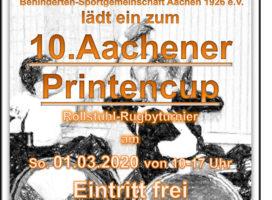 Rollstuhl- Rugby- Mannschaft EUREGIOborderlineRR lädt zum 10.Aachener Printencup